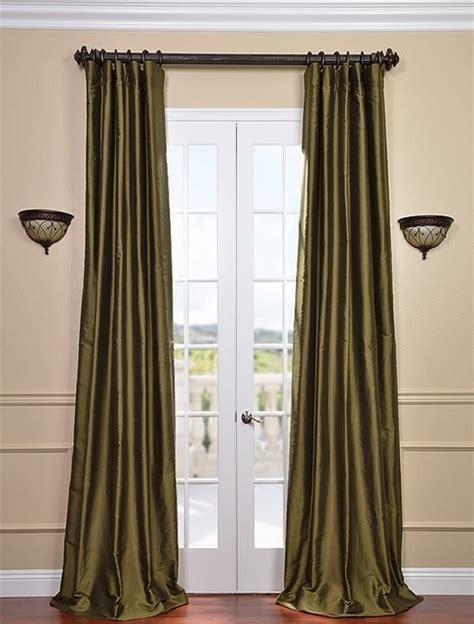 green silk curtains sage green thai silk curtains traditional curtains