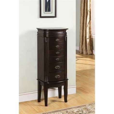 Jewelry Armoire Furniture by Powell Furniture Italian Influenced Transitional Quot Espresso