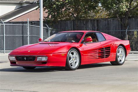 classic ferrari testarossa 1992 ferrari 512tr testarossa 512 tr rosso corsa red tan