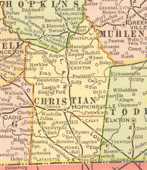 kentucky map hopkinsville christian county kentucky vintage 1905 map hopkinsville