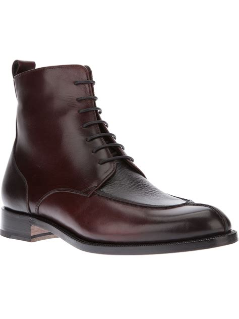 bruno magli boots bruno magli laceup ankle boot in brown for black lyst