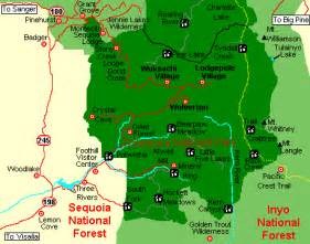 sequoia national park california map citispot abode of giants sequoia national park