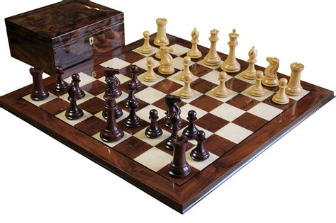chess board walnut book style with staunton chessmen brown buy collectors rosewood walnut chess set at official