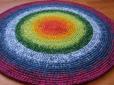 happy rainbow rug 30 in diameter made in the