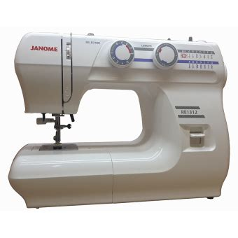 Mesin Jahit Janome Re 1312 janome re 1312 mesin jahit portable multifungsi putih