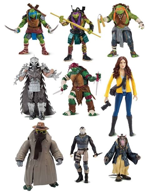 film action figures playmates movie toys reveal splinter and more