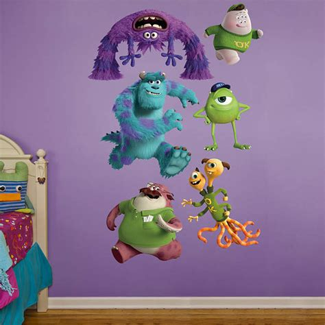 Monsters Inc Wall Decor by Monsters Collection Wall Decal Shop Fathead