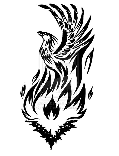 phoenix rising from the ashes tattoo designs tribal by ara tun on deviantart