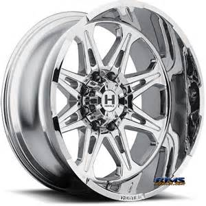 Chrome Wheels On White Truck 20 Inch Hostile Truck Wheels H102 Havoc 8 Pvd Chrome