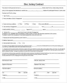 contract forms template 6 dj contract templates free word pdf documents