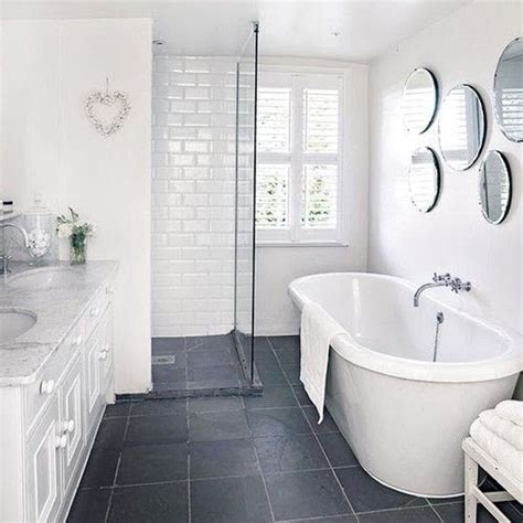 bathroom with grey tile floor 40 grey slate bathroom floor tiles ideas and pictures