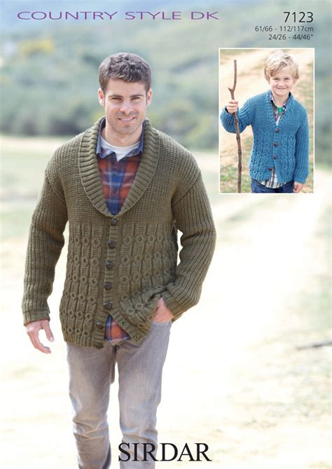 sirdar mens knitting patterns s and boy s cardigans in sirdar country style dk