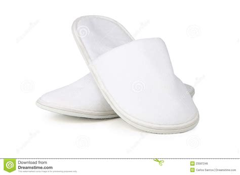 white house shoes a pair of white slippers royalty free stock image image 23587246