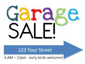 garage sign free printable w yardsale tips tricks