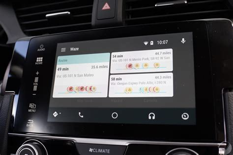 Android Auto by Waze Sur Android Auto Les Premi 232 Res Images De L Interface