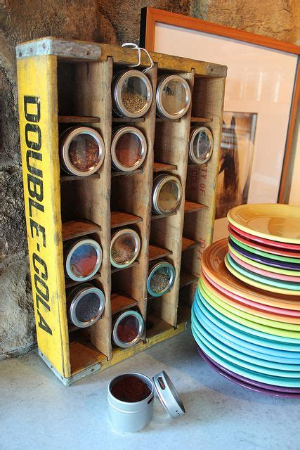 diy crate spice rack 20 best upcycled and repurposed vintage images on