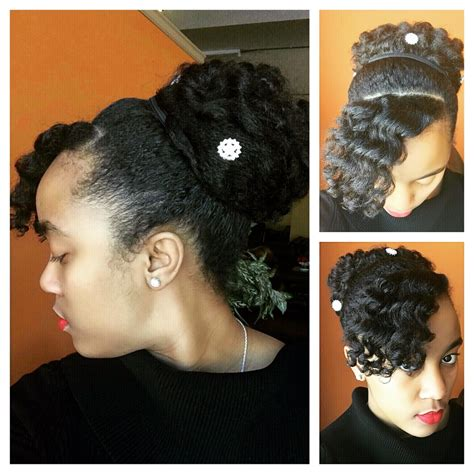 ththermal rods hairstyle perm rod curls updo by nknaturals
