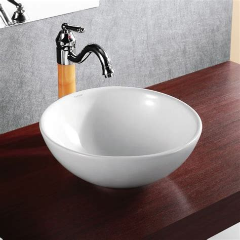 deep bathroom sinks elanti porcelain vessel deep bowl sink 15 home