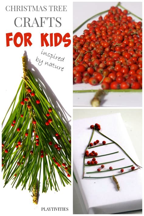 3 christmas tree crafts from nature playtivities