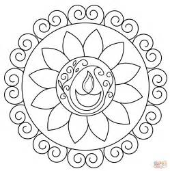 rangoli coloring pages diwali rangoli coloring page free printable coloring pages