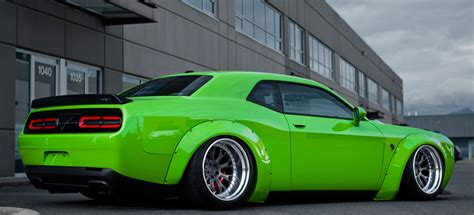 liberty walk hellcat liberty walk dodge challenger hellcat goes green