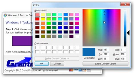 change your windows 7 taskbar color the easy way and rotate between colors