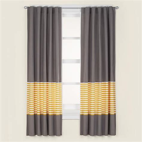 Yellow And Gray Curtains Not A Peep Curtain Panel Yellow Stripe