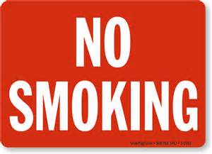 no smoking sign striking red with white sku s 2783