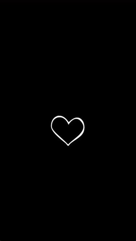 wallpaper iphone black tumblr simple heart symbol black background iphone 6 wallpaper