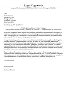 Coordinator Cover Letter by Web Project Coordinator Manager Cover Letter