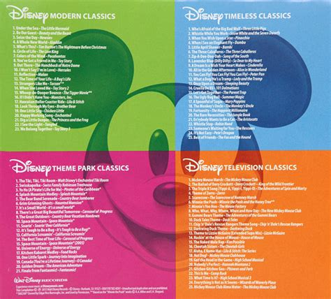 theme songs of disney memorable disney musical moments featured in new cd boxed