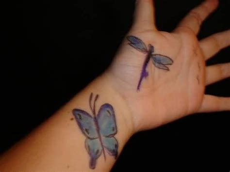 butterfly dragonfly tattoo designs 32 stylish wrist dragonfly tattoos