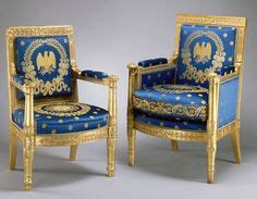 White House Furniture by Scalamandre Fabric On Blue Room Chairs Since The Nixon Era