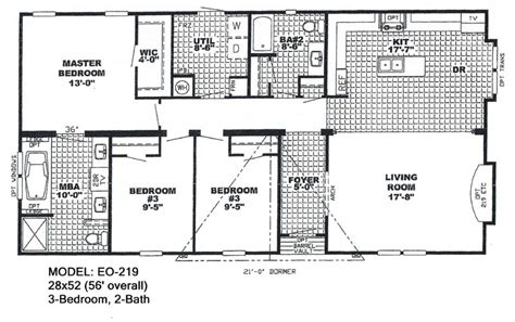 Double Wide Mobile Home Floor Plans Also 4 Bedroom 2 Bedroom House Plans One Level Doublewide