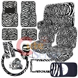 Zebra Seat Covers For Car Black White Zebra Car Seat Covers Set Animal Auto