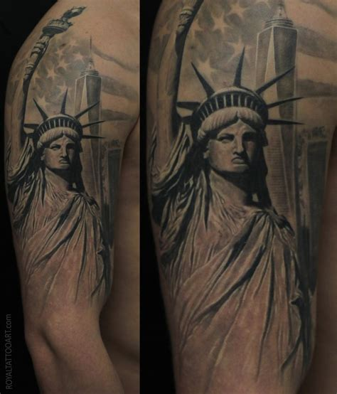 new york tattoo artists statue liberty royal jafarov realistic realism