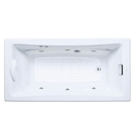 kohler whirlpool bathtubs kohler tea for two 6 ft whirlpool tub with reversible