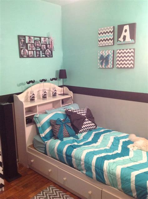 chevron bedroom decor grey mint green and black chevron room cuteness