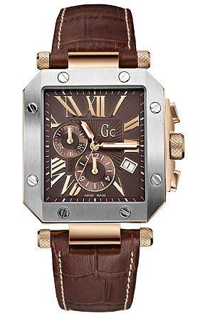 Harga Murah Gc Chrono Polos Leather gc swiss chronograph brown leather mens g50001g1 watch409
