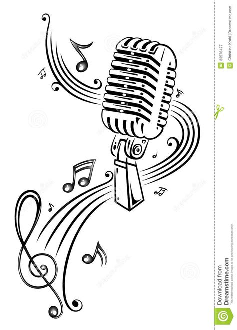 music microphone royalty free stock photography image