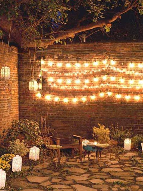 Patio Wall Lighting Ideas 24 Jaw Dropping Beautiful Yard And Patio String Lighting Ideas For A Small Heaven