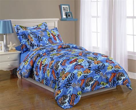 boys kids bedding twin comforter set race car