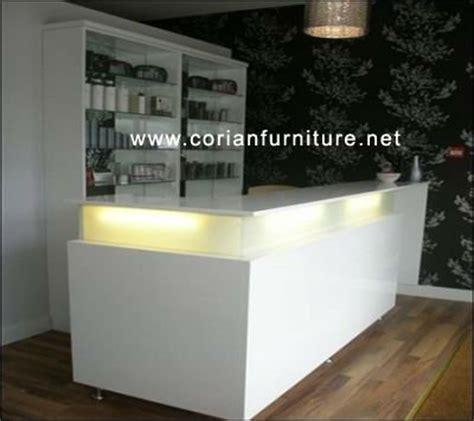 Corian Store Salon White Small Simple Reception Desk Shop