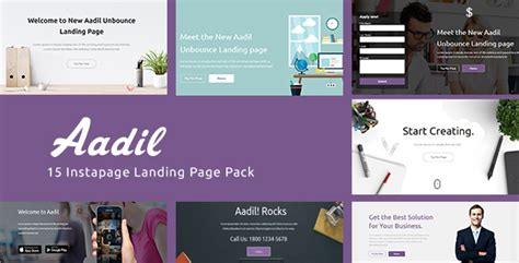themeforest instapage themeforest aadil v1 0 instapage onepage template