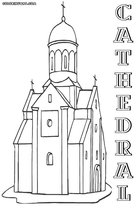 Cathedral Coloring Pages cathedral coloring pages coloring pages to and