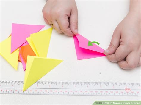 How To Make A Paper Frisbee - how to make a paper frisbee 11 steps with pictures