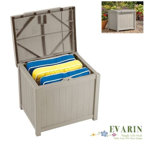 outdoor patio deck box storage resin cabinet container