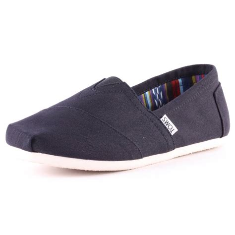 Toms Classic toms classic mens slip on black new shoes ebay