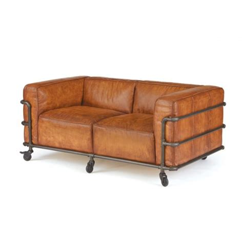 industrial pipe sofa table industrial iron pipe leather sofa loveseat