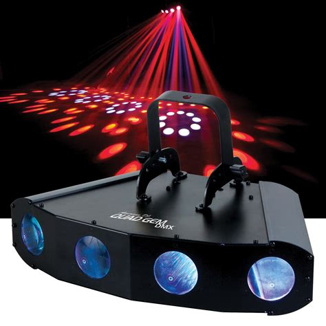 adj american dj quad gem dmx moonflower led light pssl